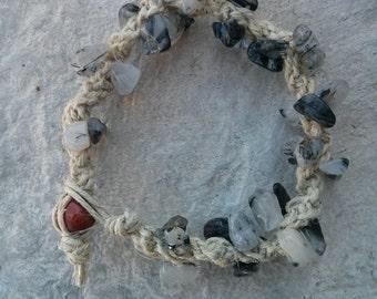 Tourmaline Quartz Hemp Bracelet