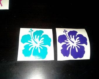 5inch Hawaiian Hibiscus Flower Vinyl Decal