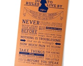 Orange/Blue Thomas Jefferson's 10 Rules to Live By Motivational Poster