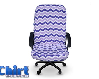 Purple And Lavender Chevron Chirt Office Or Desk Chair Cover