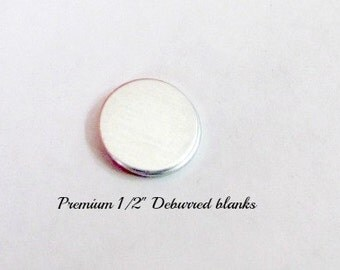 1/2 Circle Blanks - 20 gauge -Premium Aluminum - Tumbled blanks  - Stamping Supplies - hand stamping supplies - tags - metal blanks