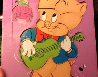Vintage Porky Pig Board puzzle