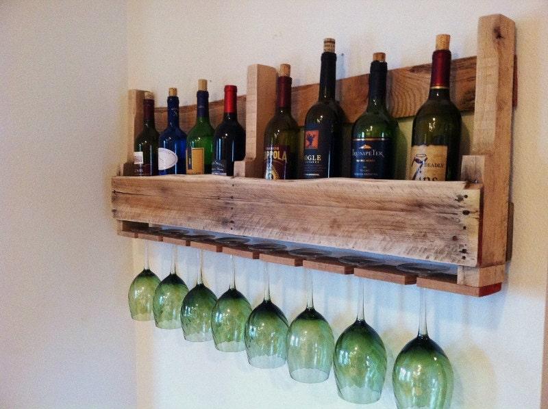 🔎zoom - Pallet Wine Rack Reclaimed Wood 24 Stain Colors Order By