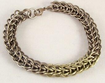 Bronze & Gold Titanium Anklet