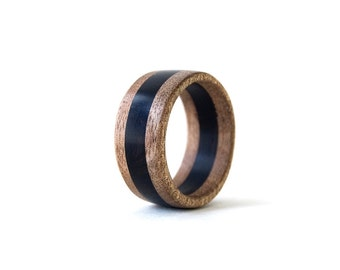 Wood Ring, Wedding Wood Band, Natur al Wedding Ring, Men Ring, Women ...