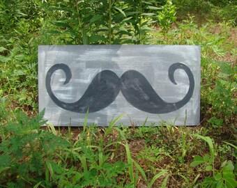 Mustache Wooden Sign