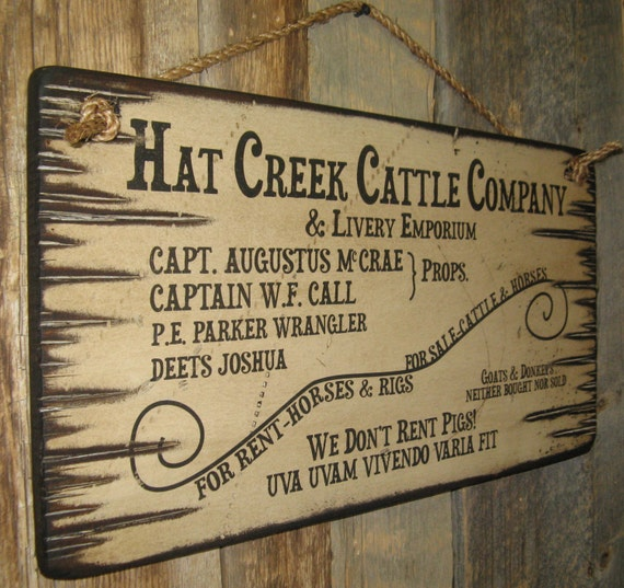 Hat creek cattle company