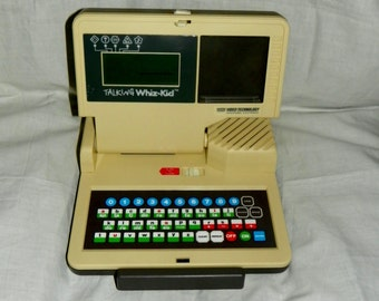 Vintage 1986 Talking Whiz Kid Learning Computer VTech Video Technology - Works with Instructions