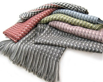Wool Throw Blanket, Soft and Luxurious Kauri Throw - No Synthetics or Chemical Dyes