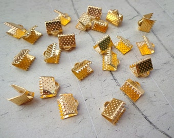 100 pcs 8 mm Gold  Plated   Fasteners Clasps