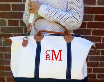 Monogram Canvas Satchel Duffle Weekender Bag