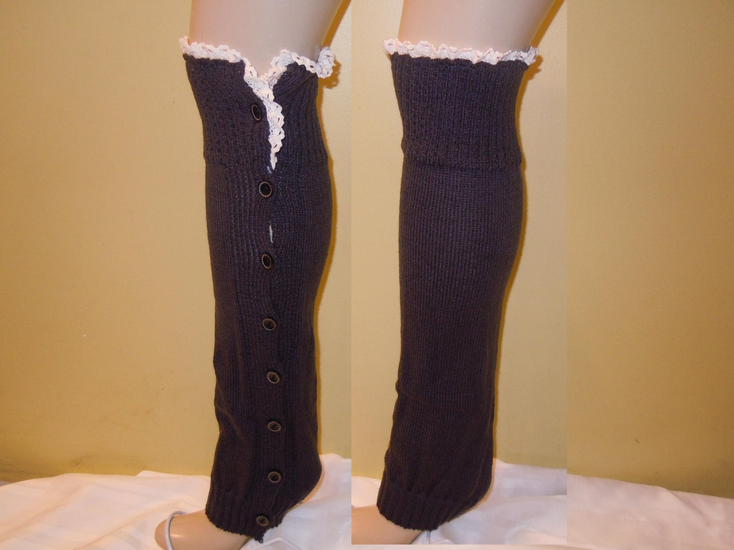 Leg Warmers With Button Boot Socks Boot Womens Leg Warmers