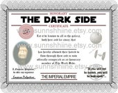 The Dark Side Certificate (Star Wars, Darth Vader, Party Favor, Gag Gift,Sci-Fi, May The Force Be With You, Stocking Stuffer)