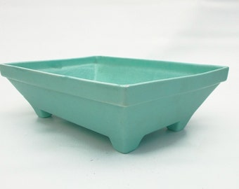 Patina bluegreen planter by Haeger