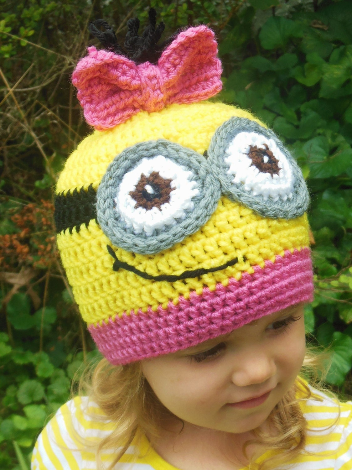 Free Crochet Pattern For Girl Minion Hat ~ Pakbit for .