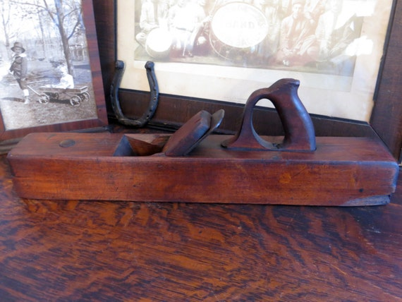 Antique Ohio Tool Co Wood Plane Primitive Handmade