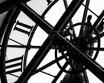 Black and White Photography - Clock Face - Paris Photography - Musee d'Orsay - Fine Art Photography Print - Paris Home Décor - Thundertree
