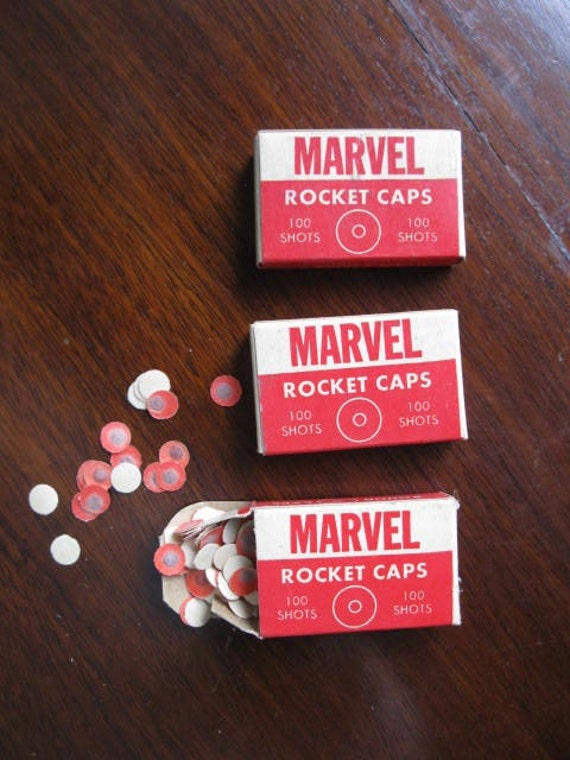 3 Boxes Marvel Rocket Caps For Cap Gun By Lulusfroufrou On Etsy