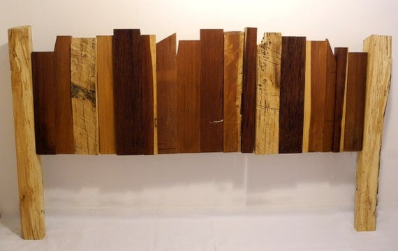 items similar to queen size reclaimed wood headboard on etsy. Black Bedroom Furniture Sets. Home Design Ideas