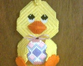 Easter Chick Wall Hanging in Plastic Canvas
