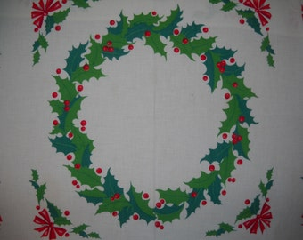 S A L E : Christmas Tablecloth, could be Wilendur, Holiday Cloth,
