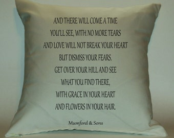 Mumford and Sons After the Storm Lyrics 18X18 Decorative Pillow Cover