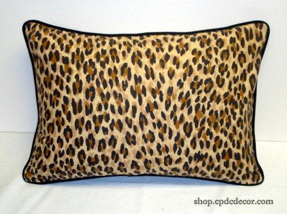 Animal Print Lumbar Pillows : Leopard Print Lumbar Pillow Cover Waverley Rondeau by CPDCDecor