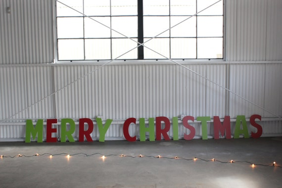 Large 18in Letters - Merry Christmas - 14-20ft wide