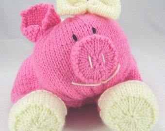 KNITTING PATTERN - Pig Pyjama Case Knitting Pattern Download From Knitting by Post