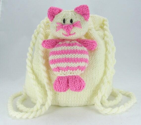 Cat Bag Knitting Pattern : KNITTING PATTERN Cat Nap Sack/Bag Knitting Pattern Download