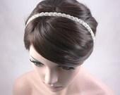 ROSABEL - Vintage Inspired Crystal Bridal Headband, Wedding Rhinestone Headband, Bridal Headpiece, Halo, Bohemian, Hair Accessory