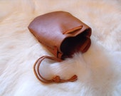 Small Leather Pouch (Tan) Reenactment