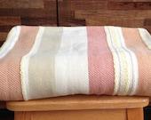 Vintage Cotton Striped Blanket