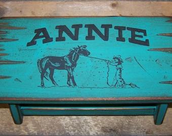 Child stool, kid's stool, bathroom stool, wood stool for kid's, personalized kid's stool, kid's western stool, children's stool