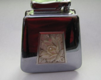 Colibri by Kreisler Table Lighter with a beautiful Hand Carved Mother of Pearl Design