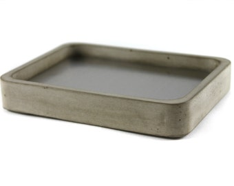 Concrete and Stainless Steel Soap Dish. Concrete Soap Dish. Soap Dish.