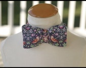 Men's self tie bow tie floral Liberty of London fabric