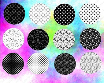 240 digital collage sheets Stars, 1in circles,Jewelry Making, Bottle Caps, printable clipart, instant download, printable image