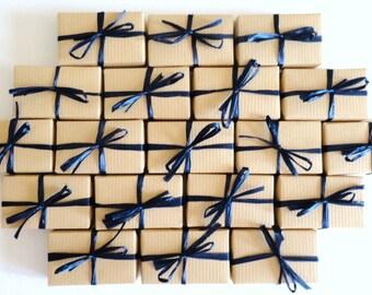 10 Affordable Soap Party Favors, Kraft Paper Wrap, Choose your ribbon color,  Wedding Favor, Bridal Shower Party Favor