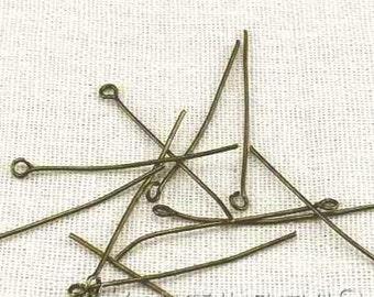 Eye Pins -200pcs Antique Bronze Jewelry Making Eye Pin Findings 40mm