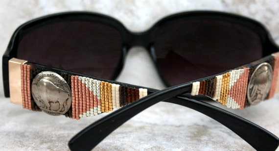 Beadwork  Beaded Sunglasses in a Southwest Design