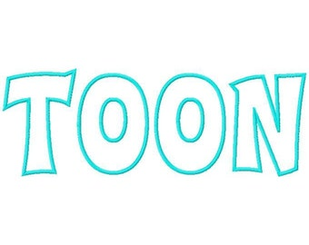 Toon Machine Applique Embroidery Fonts  1691