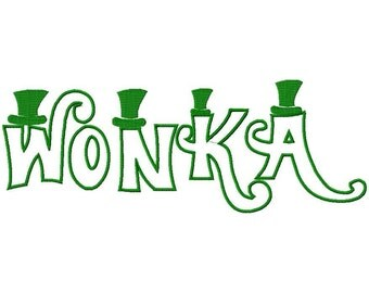 Wonka Machine Applique Embroidery Fonts  1775