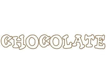 Chocolate Machine Applique Embroidery Fonts  1844