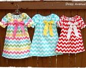 Rainbow chevron dress**Easter dress**Aqua blue chevron dress**Pink chevron dress**Red chevron dress**Toddler girls peasant dress