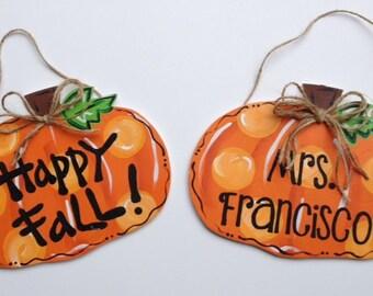 Mini Pumpkin Door Hangers