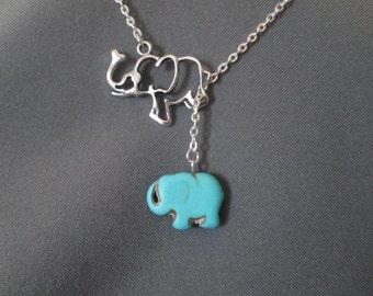 Elephant Necklace - Lariat Style