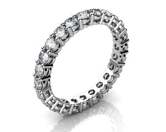 Shared Prong Round Diamond Eternity Ring With Open Gallery (1.20 ct. tw.)