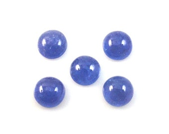 Tanzanite Cabochons 7mm Round Approximately 9.00 Carat (1912)