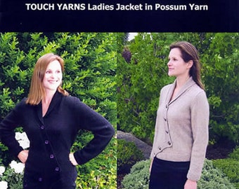 020 Ladies Jacket in Possum Yarn- Knitting pattern
